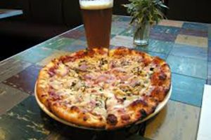 Schumacher pizza and beer