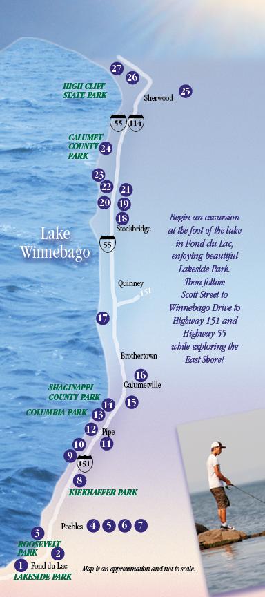 map of Explore the Shore